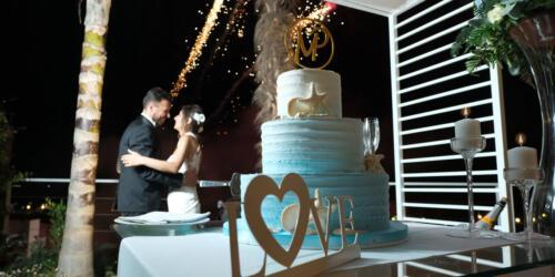 Kypos ristorante, il momento della torta
